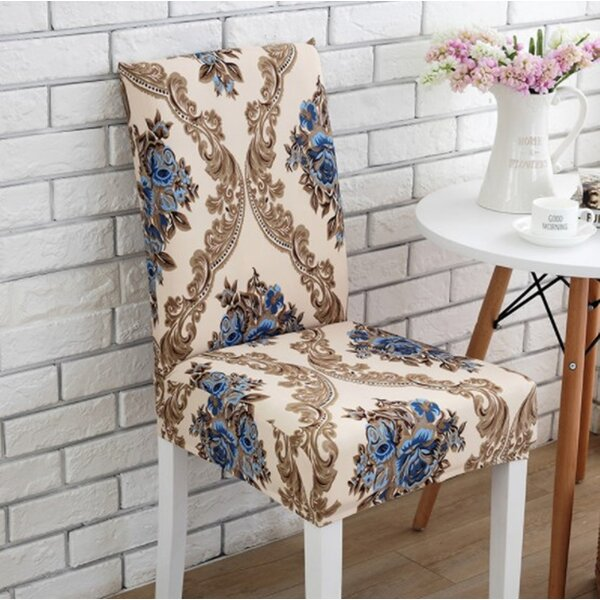 Elegant Box Cushion Dining Chair Slipcover by Astoria Grand