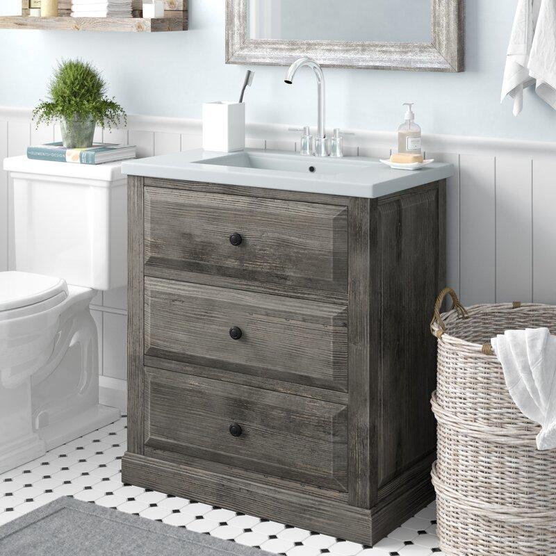 """Bellevue 30"""" Single Sink Bathroom Vanity Set"""