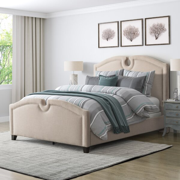 Debord Curved Top Upholstered Standard Bed by Darby Home Co