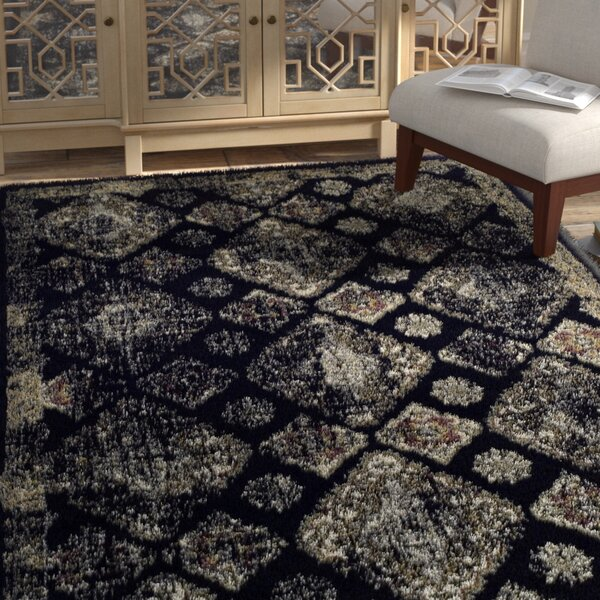 Chauntel Black Area Rug by Bungalow Rose