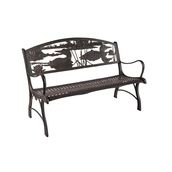 Amis Loon Cast Iron Park Bench by Gracie Oaks