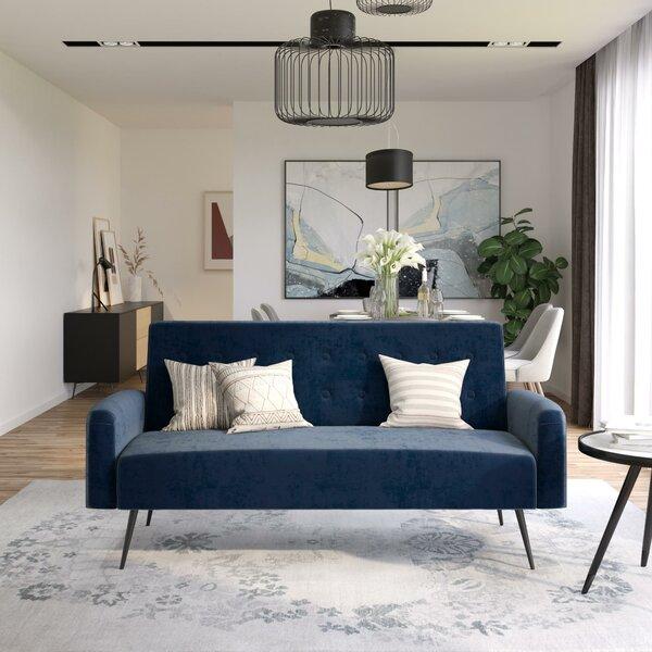 Deals Stevie Tufted Back Convertible Sofa