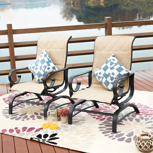 Abdullah Outdoor Spring Rocking Chair (Set of 2) by Darby Home Co