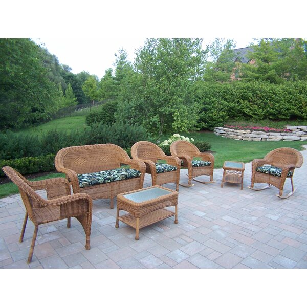 Kingsmill 7 Piece Sofa Set with Cushions by Rosecliff Heights
