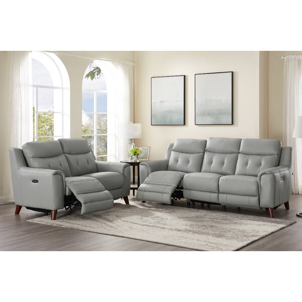 Nagata 2 Piece Leather Reclining Living Room Set By Latitude Run
