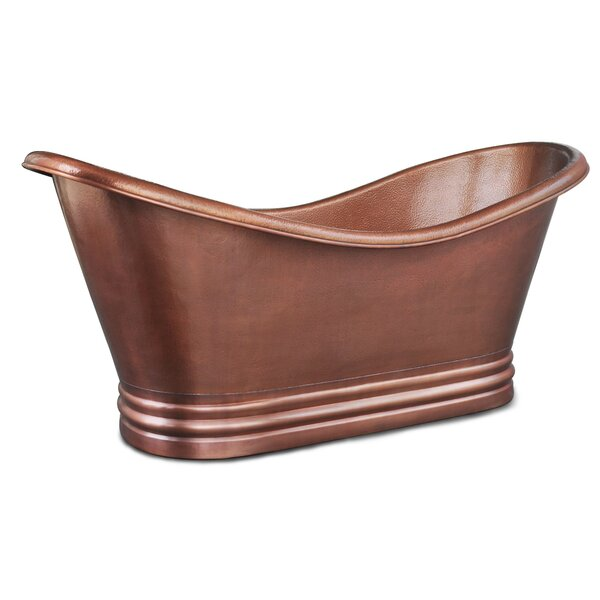Euclid 72 x 34 Freestanding Soaking Bathtub by Sinkology