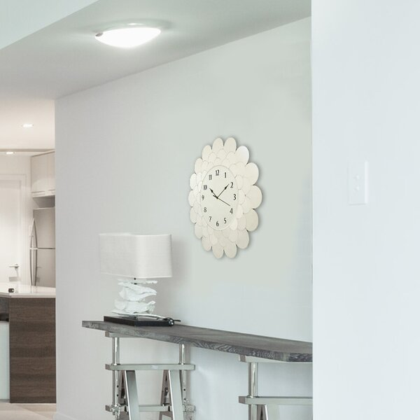 Fleur 22 Glass Clock by Selections by Chaumont