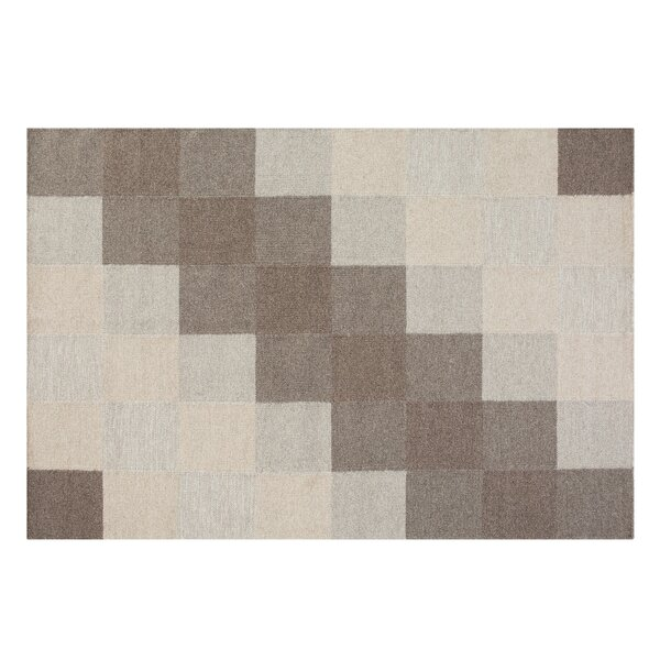 Nizip Handwoven Wool Brown/Beige Area Rug by Home Loft Concepts