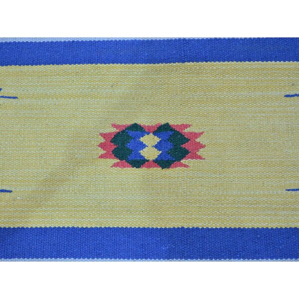 One-of-a-Kind Bonner Design Handmade Kilim Wool Area Rug by Isabelline