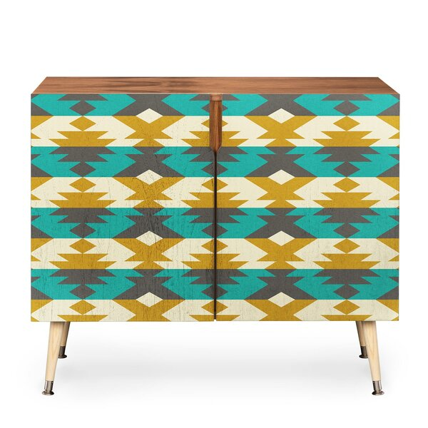 Native Diamond 2 Door Accent Cabinet by East Urban Home