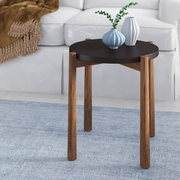 Adamantine End Table by Wrought Studio
