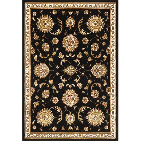 Bellville Allover Mahal Black Area Rug by Charlton Home
