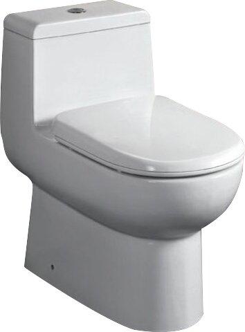 Ceramic Dual Flush Elongated One-Piece Toilet by EAGO