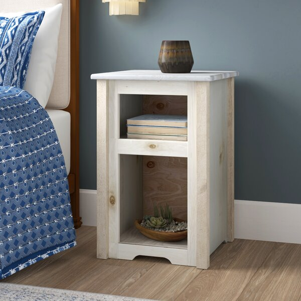 Abella Wood End Table by Loon Peak