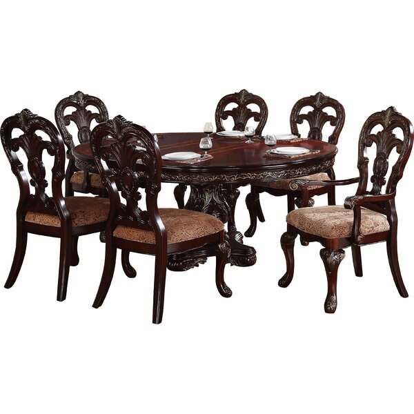 Chalus 7 Piece Extendable Dining Set by Astoria Grand