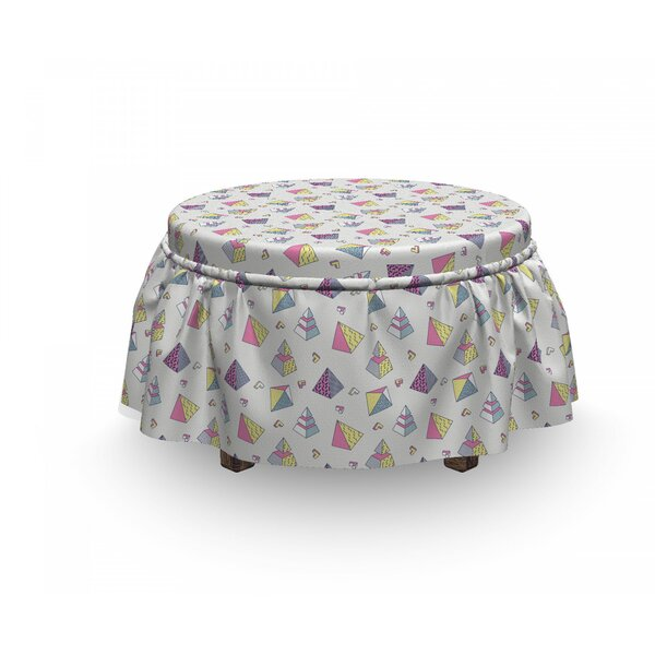 Classic Memphis Ottoman Slipcover (Set Of 2) By East Urban Home