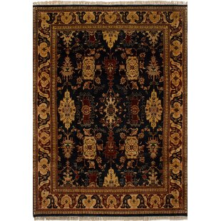 Price comparison One-of-a-Kind Dockery Hand-Knotted 8' x 11'2 Wool Beige/Black Area Rug By Isabelline