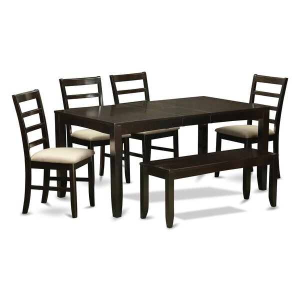 Lynfield 6 Piece Solid Wood Dining Set by East West Furniture