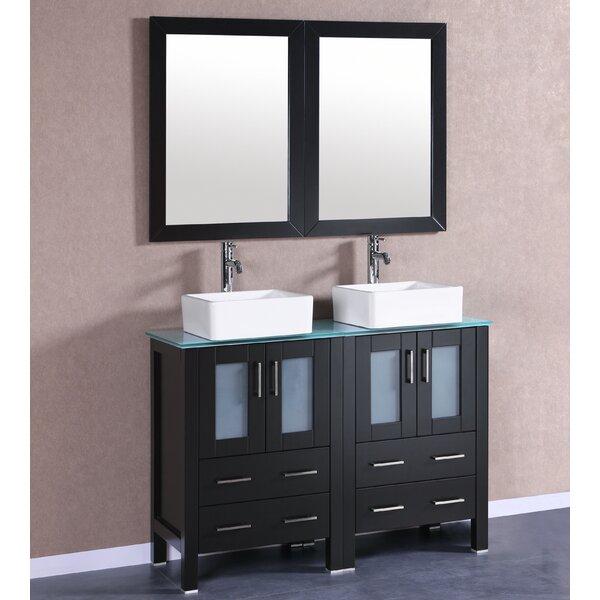 Dunellen 47 Double Bathroom Vanity Set with Mirror by Bosconi