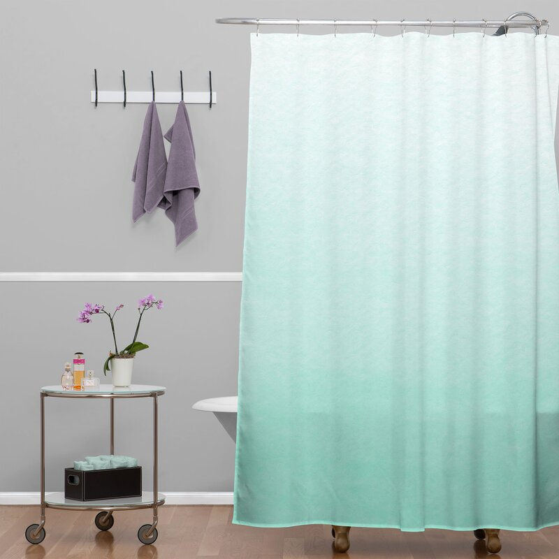 Brayden Studio Kessinger Mint Ombre Shower Curtain & Reviews | Wayfair