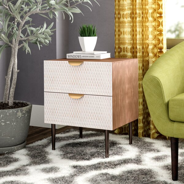 Kristy Honeycomb End Table with Storage by Corrigan Studio