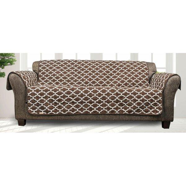 Printed Quatrefoil T-Cushion Sofa Slipcover By Charlton Home