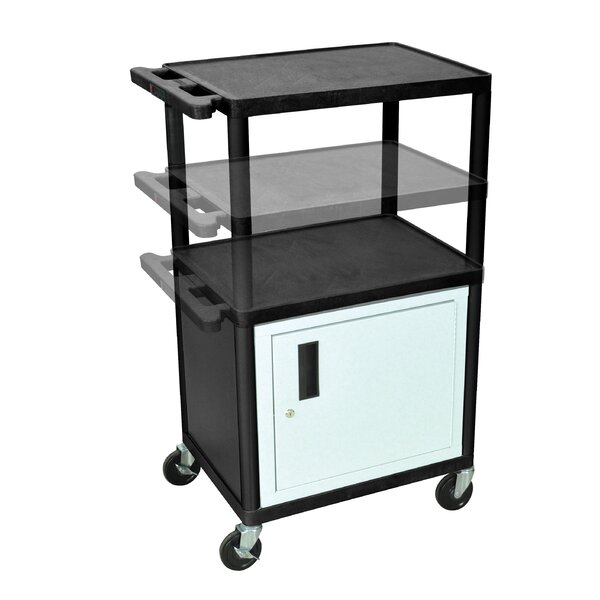 LP Carts Series AV Cart with Cabinet/Electric by Luxor