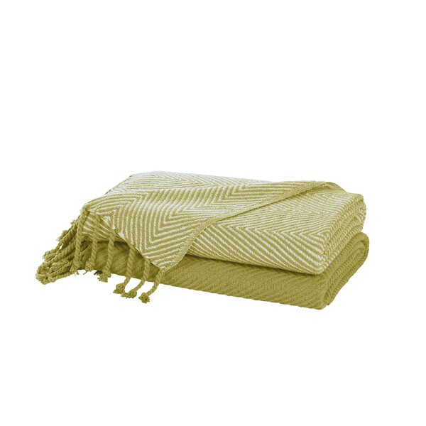 Gardin Chevron Throw Cotton  Blanket by Bungalow Rose