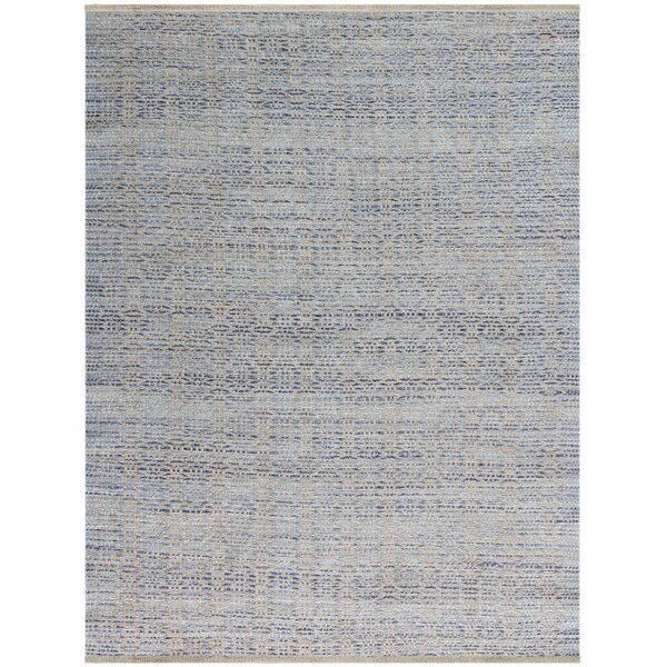 Bertrand Polo Flat-Weave Blue Area Rug by Bungalow Rose