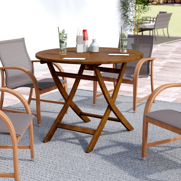 Pine Hills Round Dining Table by Beachcrest Home