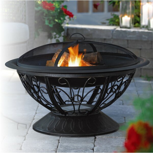 Scroll Steel Fire Pit by Jeco Inc.