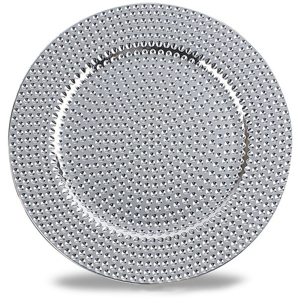 Plante Pattern Round Charger Plate by Bloomsbury Market