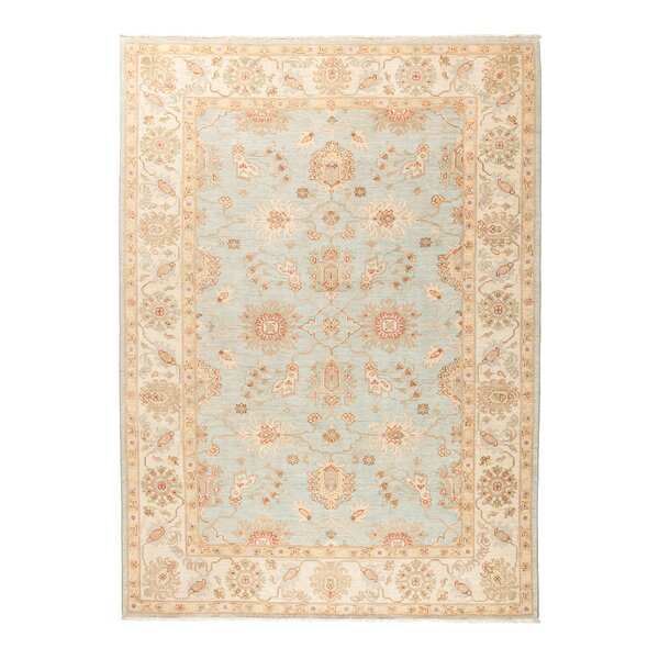 One-of-a-Kind Fine Ghazni Hand-Knotted Blue Area Rug by Darya Rugs
