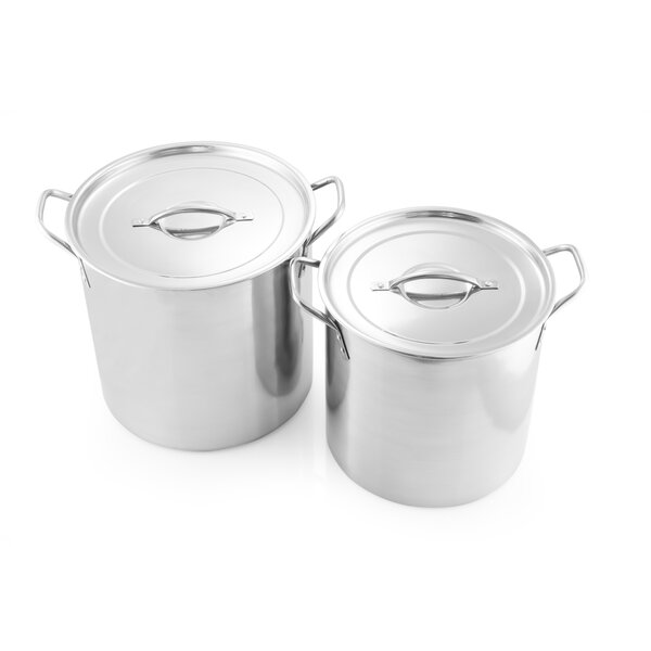 2 Piece Stock Pot Set with Lid by McSunley