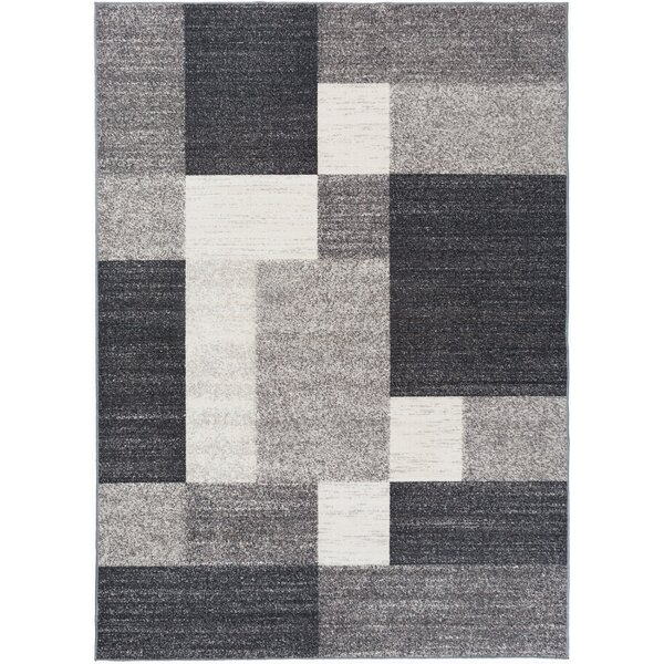 Pamplin Gray Area Rug by Wade Logan