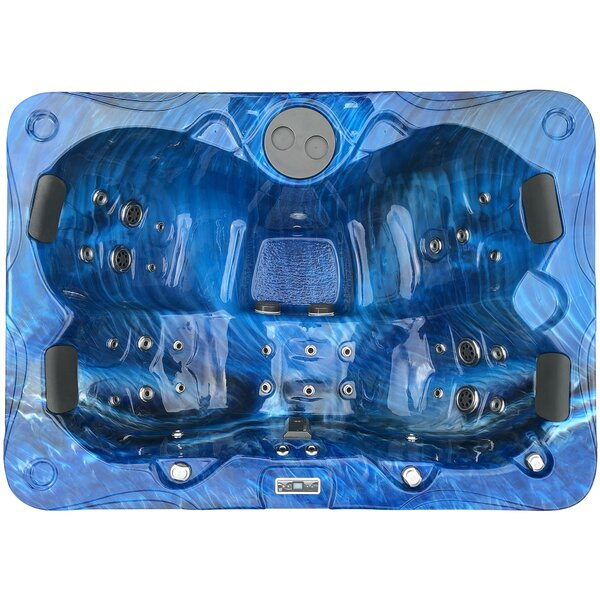 3 Person 55-Jet Spa with LED Light and Fountain by Futura Spas