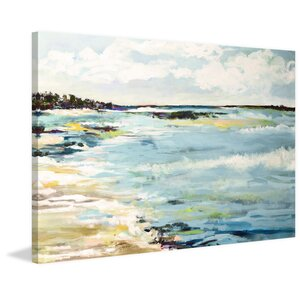 'Beach Surf III' Oil Painting Print on Wrapped Canvas by Beachcrest Home