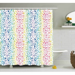 Julia Circles in Wavy Shape Shower Curtain By Zoomie Kids