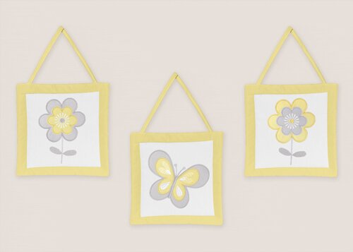 3 Piece Mod Garden Wall Hanging Set by Sweet Jojo Designs