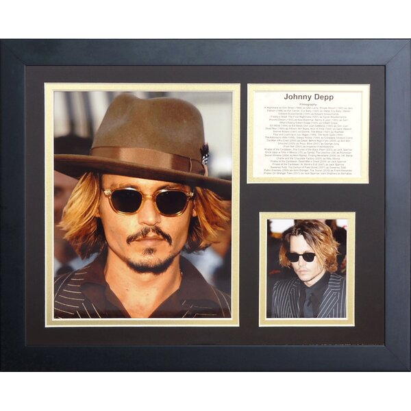 Johnny Depp Framed Memorabilia by Legends Never Die