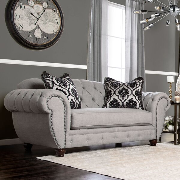 Special Saving Suffield Chesterfield Loveseat by Darby Home Co by Darby Home Co