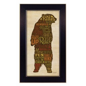 'Cabin rules' Framed Textual Art by Trendy Decor 4U