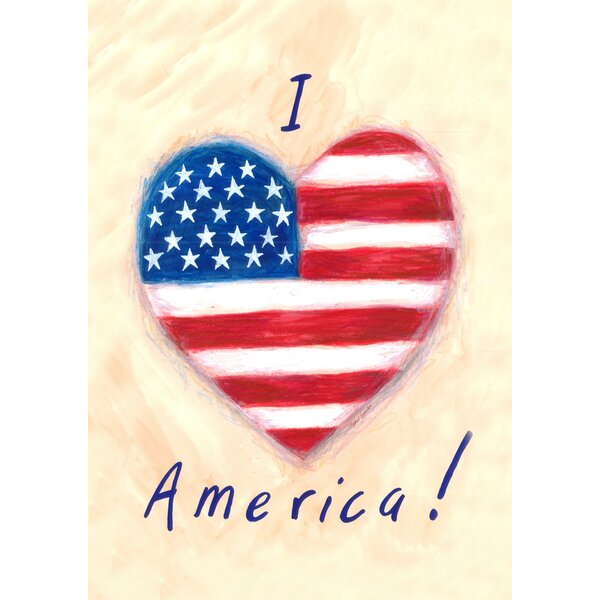 I Heart America 2-Sided Garden flag by Toland Home Garden