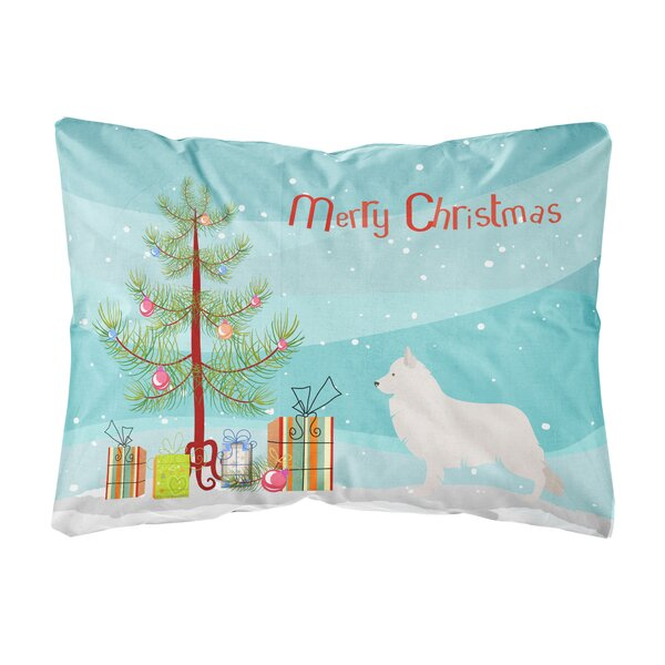 Lyndhur Berger Blanc Suisse Christmas Indoor/Outdoor Throw Pillow by The Holiday Aisle