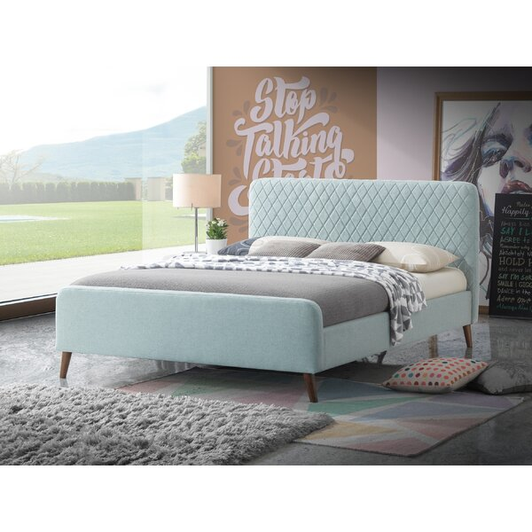 Mont Retro Queen Upholstered Platform Bed by Everly Quinn