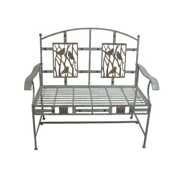 Superior Birds on Branches Metal Garden Bench by August Grove