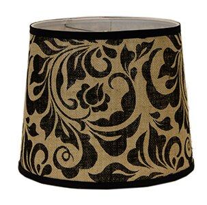 Fabric Drum Lamp Shade ( Screw On ) in Black/Beige