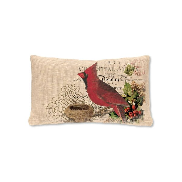Winter Garden Cardinal Lumbar Pillow by Heritage Lace