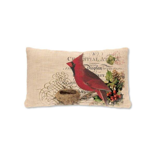 Winter Garden Cardinal Lumbar Pillow by Heritage Lace