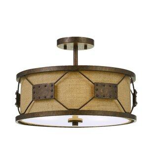 Flush mount mini chandelier wayfair eckert 3 light drum chandelier mozeypictures Choice Image